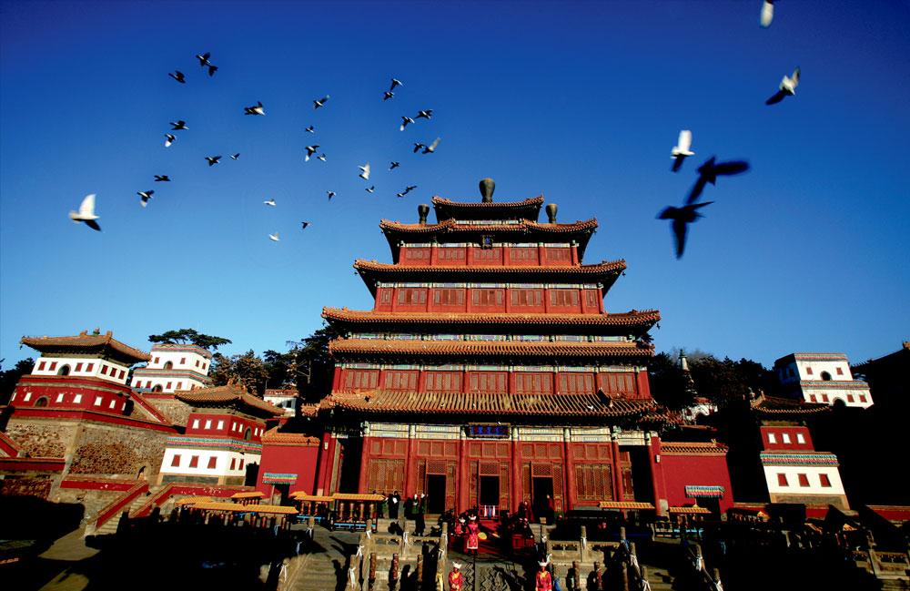 世界文化遗产-避暑山庄外八庙之普宁寺大殿(大佛寺)
