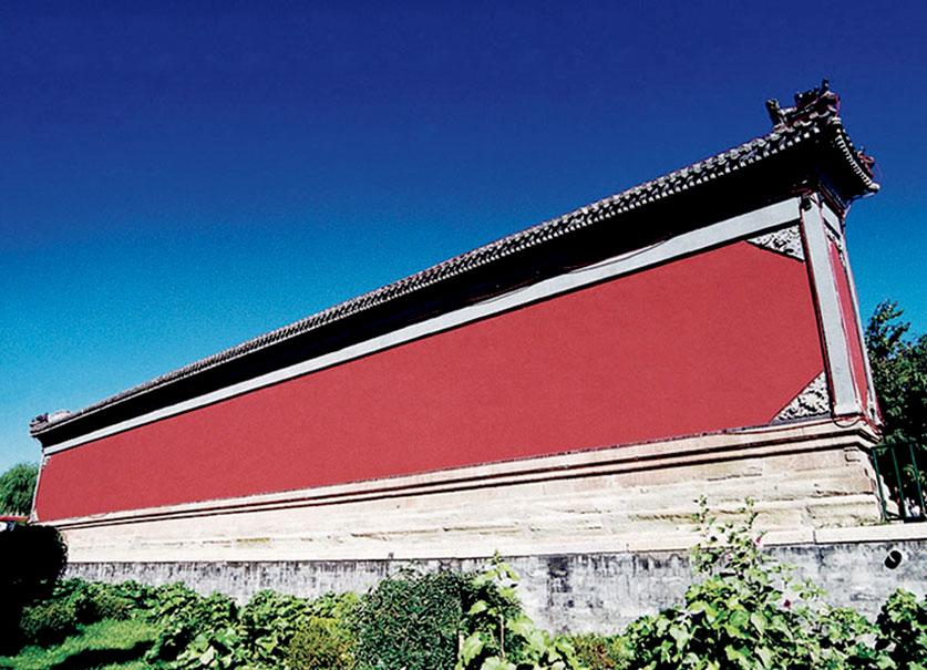 世界文化遗产-避暑山庄丽正门前影避墙